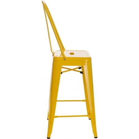Paris Back 66 insp. Tolix yellow metal bar stool with backrest D2.Design