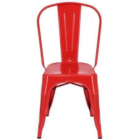 Paris insp. Tolix red metal chair D2.Design