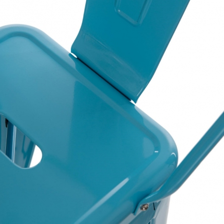 Paris Back 66 insp. Tolix blue metal bar stool with backrest D2.Design