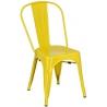 Designerskie Krzesło metalowe Paris insp. Tolix Żółte D2.Design do jadalni, salonu i kuchni.