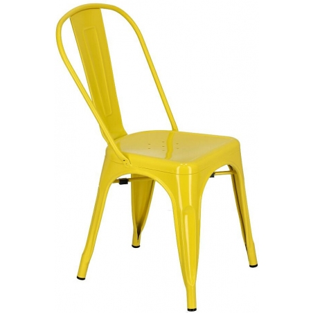 Paris insp. Tolix yellow metal chair D2.Design