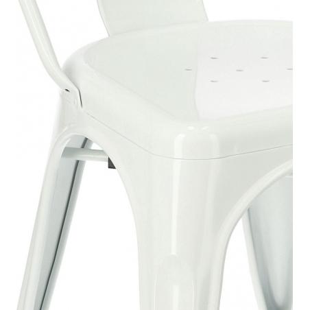Paris insp. Tolix white metal chair D2.Design