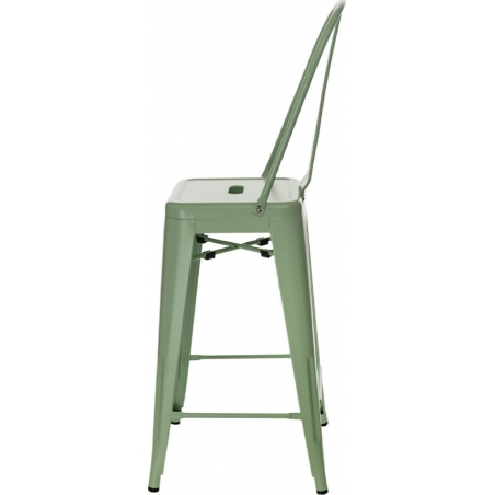 Paris Back 66 insp. Tolix mint metal bar stool with backrest D2.Design