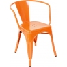 Paris Arms insp. Tolix custom colour metal chair with armrests D2.Design