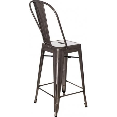 Paris Back 66 insp. Tolix metal bar stool with backrest D2.Design