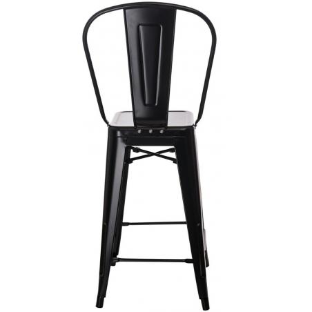 Paris Back 66 insp. Tolix black metal bar stool with backrest D2.Design