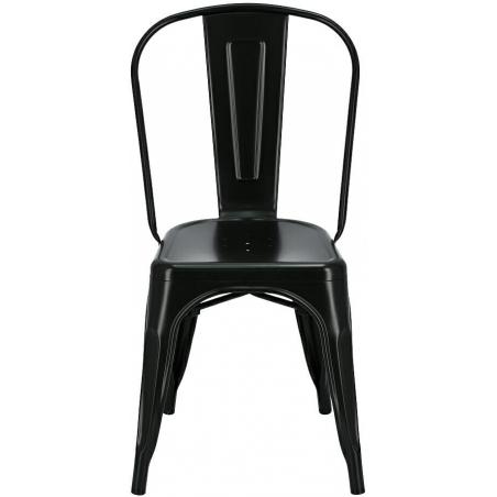 Paris insp. Tolix black metal chair D2.Design