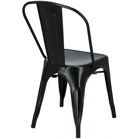 Paris insp. Tolix black metal chair D2.Design