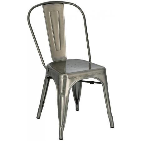 Designerskie Krzesło metalowe Paris insp. Tolix Metalowe D2.Design do jadalni, salonu i kuchni.