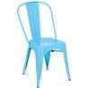 Designerskie Krzesło metalowe Paris insp. Tolix Niebieskie D2.Design do jadalni, salonu i kuchni.