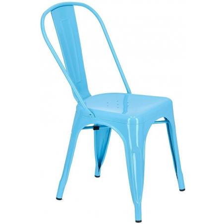 Paris insp. Tolix blue metal chair D2.Design