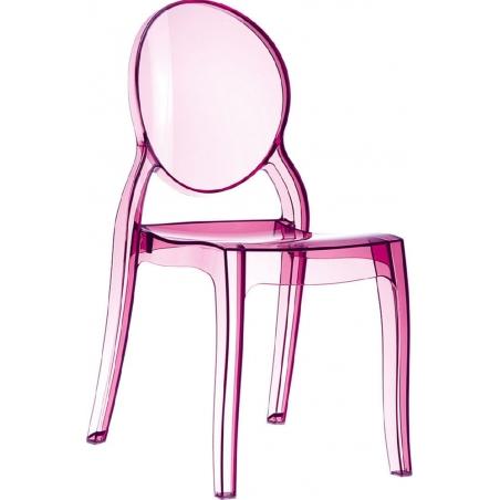 Designerskie Krzesło z tworzywa Elizabeth Różowy przeźroczysty Siesta do jadalni, kuchni i salonu.