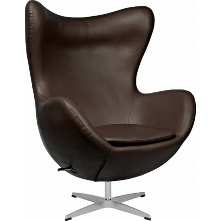 Jajo Chair Leather brown swivel armchair D2.Design