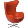 Designerski Fotel skórzany Jajo Chair Leather Pomarańczowy D2.Design do salonu i sypialni.