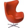 Jajo Chair Leather orange swivel armchair D2.Design