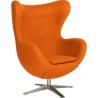 Jajo Chair orange swivel armchair D2.Design