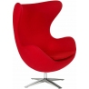 Jajo Chair red swivel armchair D2.Design
