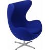 Designerski Fotel tapicerowany Jajo Chair Cashmere Atrament D2.Design do salonu i sypialni.