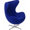 Jajo Chair Cashmere deep blue swivel armchair D2.Design
