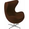 Designerski Fotel tapicerowany Jajo Chair Cashmere Brązowy D2.Design do salonu i sypialni.