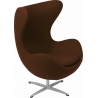 Jajo Chair Cashmere brown swivel armchair D2.Design