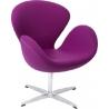 Designerski Fotel Cup insp. Swan Chair Cashmere Amarant D2.Design do salonu i sypialni.