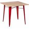 Paris Wood 76x76 red&natural wooden square dining table D2.Design