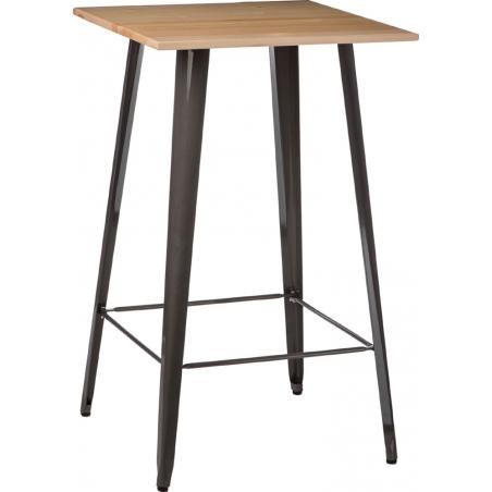 Paris Wood 60x60 metal&natural square bar table D2.Design