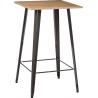 Paris Wood 60x60 metal&natural square bar table D2.Design