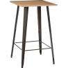Industrialny Stół barowy Paris Wood Naturalny 60x60 Metalowydo kawiarni lub kuchni