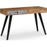 Mezo 120 multicolour restro desk with drawer Halmar