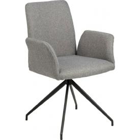 Designerskie Krzesło fotelowe tapicerowane Naya Szare Actona do jadalni,kuchni i salonu.