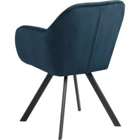 Designerski Fotel wypoczynkowy Castel Halmar do salonu. Kolor popiel, Styl nowoczesny.
