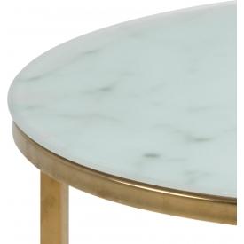 Designerski Fotel tapicerowany Dennis Halmar do salonu. Kolor niebieski, popiel, Styl minimalistyczny.