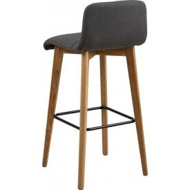 Designerski Fotel tapicerowany SOFT Black Halmar do salonu. Kolor szary, Styl nowoczesny.