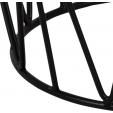 Stylowa Okrągła ława kawowa Genua 60 Halmar do salonu. Kolor jesion, stelaż/podstawa metalowa.
