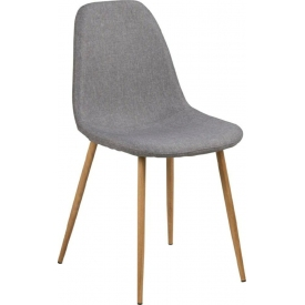 Krzesło tapicerowane skandynawskie Wilma szary/dąb Actona do jadalni,kuchni i salonu.