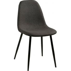 Krzesło tapicerowane Wilma szary/czarny Actona do jadalni,kuchni i salonu.