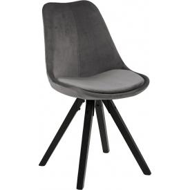 Krzesło welurowe Dima VIC szary/czarny Actona do jadalni,kuchni i salonu.