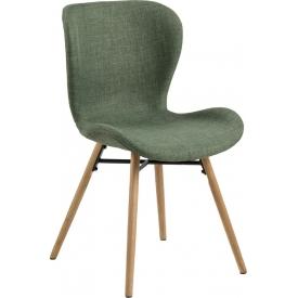 Stylowe i designerskie Krzesło tapicerowane skandynawskie Batilda Zielone Actona do salonu i jadalni.