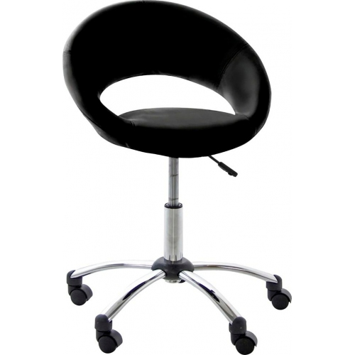 Plump black office chair Actona