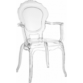 Queen Arm transparent chair with armrests Intesi