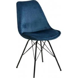 Stylowe i designerskie Krzesło welurowe Eris VIC Granatowe Actona do salonu i jadalni.