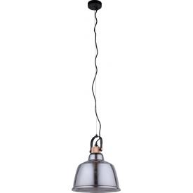 Plafon szklany Nacho Trio do sypialni. Kolor: czarny, Styl industrialny w cenie 645,00 PLN.