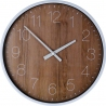 Wod wood&white round scandinavian wall clock Intesi