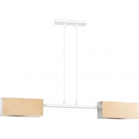 Stylowa Lampa stołowa szklana Raito DFTP do salonu. Kolor biały, Styl skandynawski.
