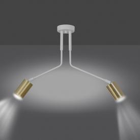 Stylowa Lampa wisząca drewniana Flake do salonu. Kolor brązowy, Styl skandynawski.