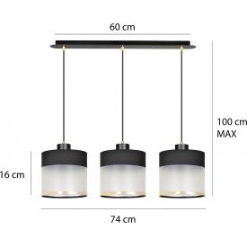 Szklana lampa wisząca Trop VI