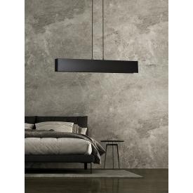 Designerska Lampa stołowa szklana Sober 25 Markslojd do sypialni. Kolor biały, szary, Styl skandynawski.