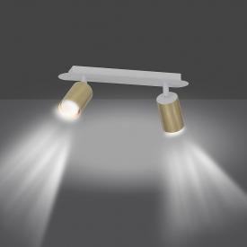 Mosiężna lampa wisząca Slug 45